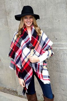 2 in 1 ~ Blanket scarf w/ Toggle