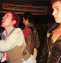 JOHNNY ROTTEN; SID VICIOUS AND STEVE JONES OF THE SEX PISTOLS ORFI LINKOPING SWEDEN 1977