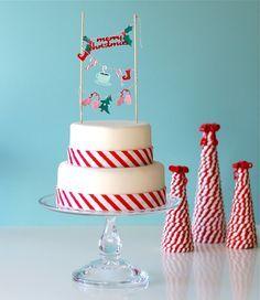 christmas cake bunting