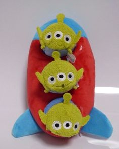 NEW Tsum Tsum Plush Mini 3 1/2'' Alien x3 Rocket House Set Disney store Japan #Disney