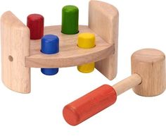 Voila Wooden Hammer and Roll  - Click image twice for info - See a larger selection of  Baby hammering and pounding toys    http://zbabybaby.com/category/baby-categories/baby-and-toddler-toys/baby-game/  - gift ideas, baby , baby shower gift ideas , kids  « zBabyBaby.com
