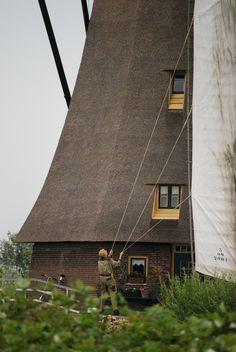 Wind tamer at Kinderdjik in The Netherlands