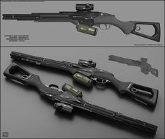 Concept of concept of sci fi shotgun for fictional scenario. Eclipse - concept of sci fi shotgun Sci Fi Weapons, Weapon Concept Art, Armor Concept, Weapons Guns, Fantasy Weapons, Military Weapons, Ninja Weapons, Arte Sci Fi, Sci Fi Art