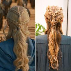 Daenerys Targaryen Braids Gallery game of thrones braid tutorial popsugar beauty Daenerys Targaryen Braids. Here is Daenerys Targaryen Braids Gallery for you. Daenerys Targaryen Braids theres a hidden meaning behind daenerys braids. Goddess Hairstyles, Girl Hairstyles, Braided Hairstyles, Greek Hairstyles, Latest Hairstyles, Inside Out Braid, The Beauty Department, Hair Game, Hair Dos