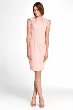 Page Not Found. Robe rose moulante crayon col montant ajustée NIFE S102 36  38 ... ded94fea486d
