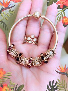 Pandora Bracelets, Pandora Jewelry, Bangle Bracelets, Bangles, Ring Bracelet, Ring Necklace, Pandora Gold, Beaded Rings, Bracelet Designs
