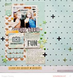 #papercraft #scrapbook #layout  duck lips... by maggie massey at @Studio_Calico