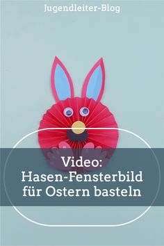 Bastelt gemeinsam mit Kindern diesen schönen Hasen als Fensterbild für den Frühling und die Osterzeit. Wie das geht, zeige ich dir in diesem Video. Viel Spaß! Videos, Blog, Daycare Ideas, Game Ideas, Young Adults, Easter Activities, Blogging