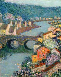 Henri Le Sidaner - Houses on the River,1938