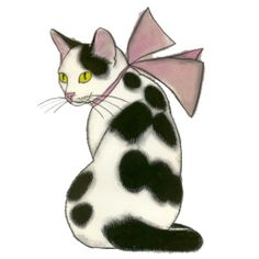 Cat With Bow by PsychoPsyche