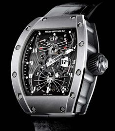 Richard Mille | Tourbillon Aerodyne Dual Time Zone | Palladium | Watch database watchtime.com #RichardMille #luxurywatches