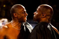 Cyril Nri and Paterson Joseph in Julius Caesar. Photo by Kwame Lestrade
