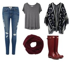 """""""Sin título #53"""" by tvj19 ❤ liked on Polyvore featuring Hunter, Frame Denim, Organic by John Patrick and Chicwish"""