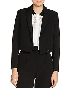 Maje Villa Cropped Single-button Blazer In Black Fashion Wallpaper, Maje, Blazer Buttons, Blazers For Women, Villa, Suit Jacket, Jackets, Lifestyle Fashion, Shopping