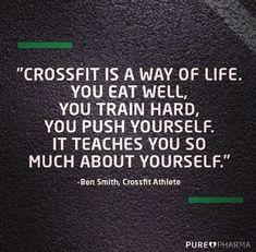 """I prefer Bodybuilding over Crossfit. """"Crossfit is a way of life. You eat well, you train hard, you push yourself. It teaches you so much about yourself. Crossfit Motivation, Crossfit Quotes, Fitness Quotes, Fitness Tips, Quotes Motivation, Health Motivation, Crossfit Funny, Crossfit Chicks, Crossfit Wods"""
