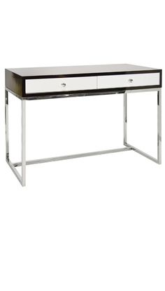 Writing Desks, Rosewood & White Lacquer Writing Desk / Dressing Table, so elegant, one of over 3,000 limited production interior design inspirations inc, furniture, lighting, mirrors, tabletop accents and gift ideas to enjoy repin and share at InStyle Decor Beverly Hills Hollywood Luxury Home Decor enjoy & happy pinning