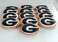 Georgia Bulldogs Cookies