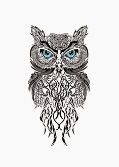 Image result for owl tattoos small tribal
