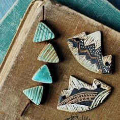 Love these ceramic beads by Kylie Parry