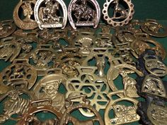 Collection of 33 x Horse Brass - John Peel - Lady Godiva - ER - Stag - Shire etc