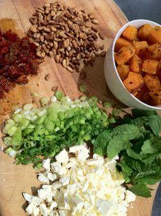 Maude and Betty: Roasted pumpkin and feta risoni salad - Donna Hay Noodle Recipes, Salad Recipes, Risoni Salad, Christmas Party Food, Roast Pumpkin, Inflammatory Foods, Pasta Noodles, Healthy Options, Chana Masala