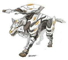 Futuristic Wolf Zoid concept
