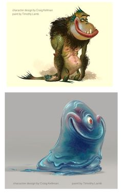 Tim Lamb para a DreamWorks Monsters vs Aliens > texture bleu