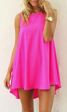 PINK SILK LOTUS MINI MULLET DRESS | Dresses | Women Clothes | KOOGAL