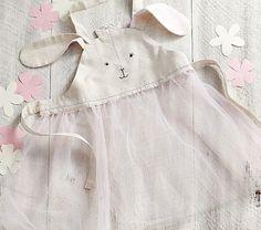 Linen Bunny Apron | Pottery Barn Kids