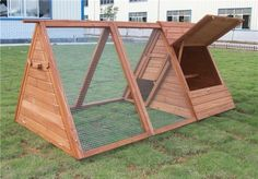 I like this coop because you can stand in it. If you buy a coop dont buy one made of pressed wood or plastic. The rabbits will chew and they cant digest that stuff. It clogs up their intestinal system and they die.