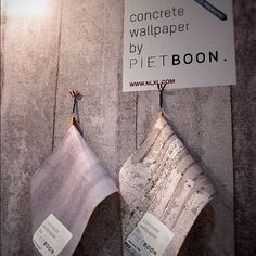 """""""Instant minimalist walls using @pietboon's concrete wallpaper for @nlxl_com @ICFF #NYDW"""""""