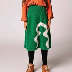 green the animals observatory ferret skirt – electric green