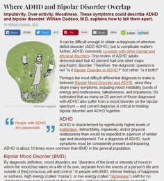 ADHD and Bipolar Disorder: Similarities, Differences, and Comorbidity Generalized Anxiety Disorder, Stress Disorders, Mental Disorders, Bipolar Disorder, Bi Polar Disorder Symptoms, Bipolar Symptoms, Stress Symptoms, Mental Health Illnesses, Mental Illness