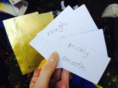 Golden tickets, give to children and they had to find the objects outside! #creative #outdoorlearning #primary #literacy