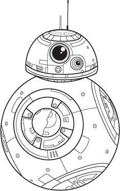 Bb8 star wars clipart stencil png starwars silhouette for Bb8 coloring page