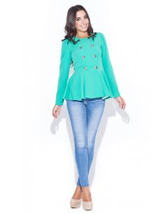 Sacoul cu peplum este in trend si anul acesta. Must Haves, Peplum, My Style, Blouse, Long Sleeve, Sleeves, Tops, Women, Fashion