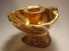 Stangl Granada Gold Candle Holder  Vintage by FourthEstateSale, $26.00