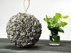 Manualidades y Artesanías   Esfera con rosas de papel   Utilisima.com