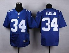 """$23.88 at """"MaryJersey""""(maryjerseyelway@gmail.com) Nike Giants 34 Shane Vereen Royal Blue Team Color Men Stitched NFL Elite Jersey"""