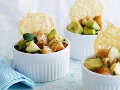 Shrimp and Avocado Salad with Frico Chips Recipe : Giada De Laurentiis : Food Network - FoodNetwork.com