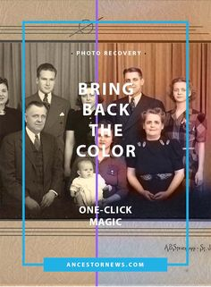 How to colorize old photos in one click http://ancestornews.com/colorize-old-photos-one-click/?utm_campaign=coschedule&utm_source=pinterest&utm_medium=Nancy%20Hendrickson&utm_content=How%20to%20colorize%20old%20photos%20in%20one%20click