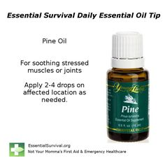 Use pine for soothing stressed muscles or joints.