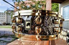 """Mapex Hand Hammered Brass 14""""x5 5"""" Snare Drum"""