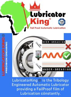 Lubricator King Automatic Lubricators: FailProof Lubrication Steel Body NO Batteries Waterproof Low cost NO Blockages NO Springs Reliable Return on Investment = 🖤👑 Grease, Investing, Engineering, King, Steel, Technology, Steel Grades, Greece, Iron