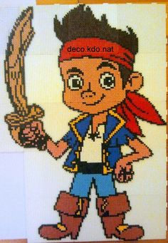 Small Perler Bead disney patterns jake and pirets | Jack - Jake and the Never Land Pirates hama perler beads by deco.kdo ...