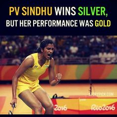 Congratulations P V Sindhu. You WON Hearts, You WON Respect, You Inspired a generation of young girls to take up badminton! You're the champ!