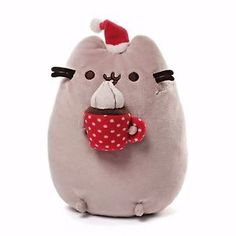Pusheen-The-Cat-10-034-Christmas-2016-Snackable-Plush-by-GUND-NWT-Age-1