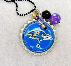 Baltimore Ravens Football Necklace Baltimore Ravens Jewelry