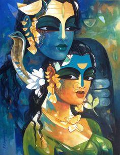 "Shiva100 by NP Razeshwarr Acrylic On Canvas Size: 14"" X 18"" Price: INR 17,000 / $312 More"