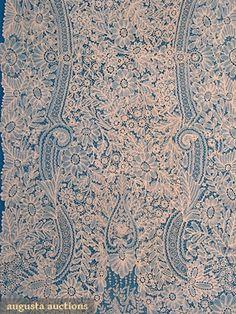 Brussels Mixed Lace Beil, c. 1870.  Bobbin lace